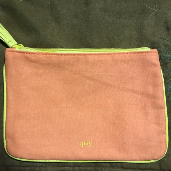 Orange and Yellow small makeup bag New 2d7e38f0b2a49